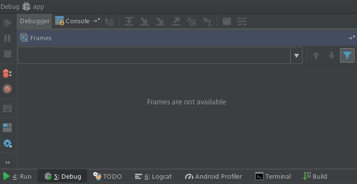 frames are not available android studio