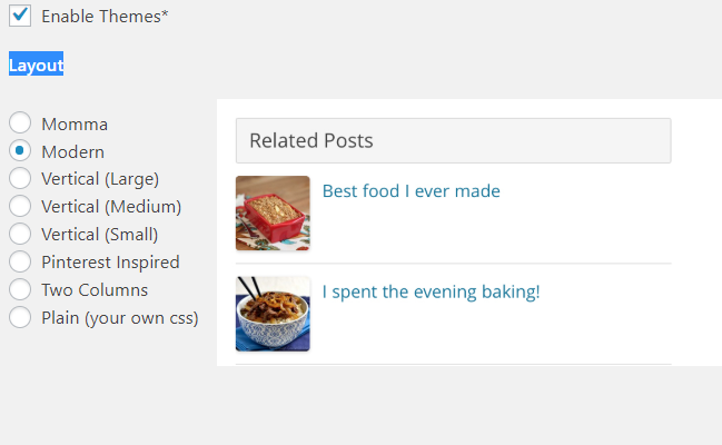 Wordpress Related Posts layout