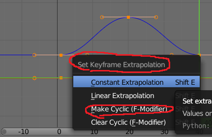 Blender Set Keyframe Extrapolation